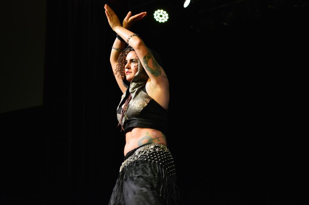Violet Julia Clear Hays, studio instructor, for tribal bellydance solo