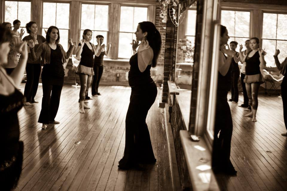 Lisa Zahiya of Studio Zahiya instructs students in downtown Asheville.