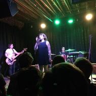 Waxahatchee. Katherine Simonetti (bass), Katie Crutchfield (vocals), Ashley Arnwine (drums). Photo: Carolyn Fagan